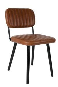 Felis Lifestyle 1100261 Jake Worn Chaise Faux Cuir Marron 58 x 46 x 81 cm
