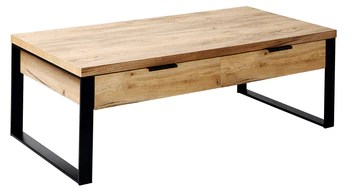 Marque Amazon - Movian Ems - Table basse à tiroirs, 118 x 59 x 40 cm, Finition chêne