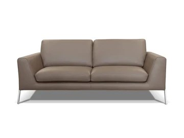 Alkove - canapé moderne en cuir Kutina, 3 places, TAUPE