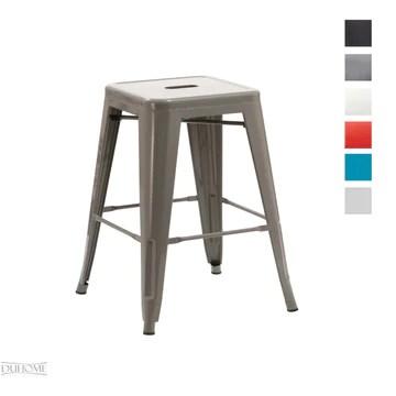 Duhome Tabouret de Bar métal au Design Industry Gris empilable sélection de Couleurs Chaise en Fer rétro
