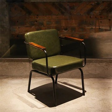 KXBYMXMobilier de Salon de Cuisine Chaise de Loisirs rétro, Chaise Industrielle de Vent Chaise de café créative de Fer (Couleur : Green)