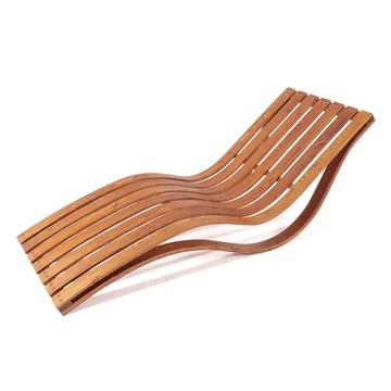 Ampel 24, Chaise Longue Capri | Forme Arrondie Ergonomique | Chaise résistante en Bois de méléze pour Jardin ou Sauna