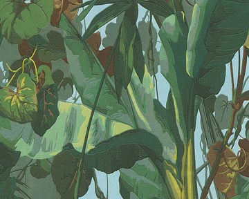 A.S. Création Papier peint vinyle Dekora Natur 958981 6 Bleu/marron/vert