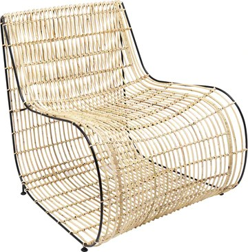 Kare Design Fauteuil Village Swing rotin