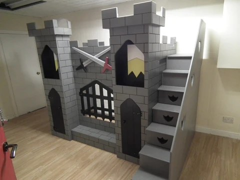 Boys Knight S Castle Themed Bed Dreamcraft Furniture