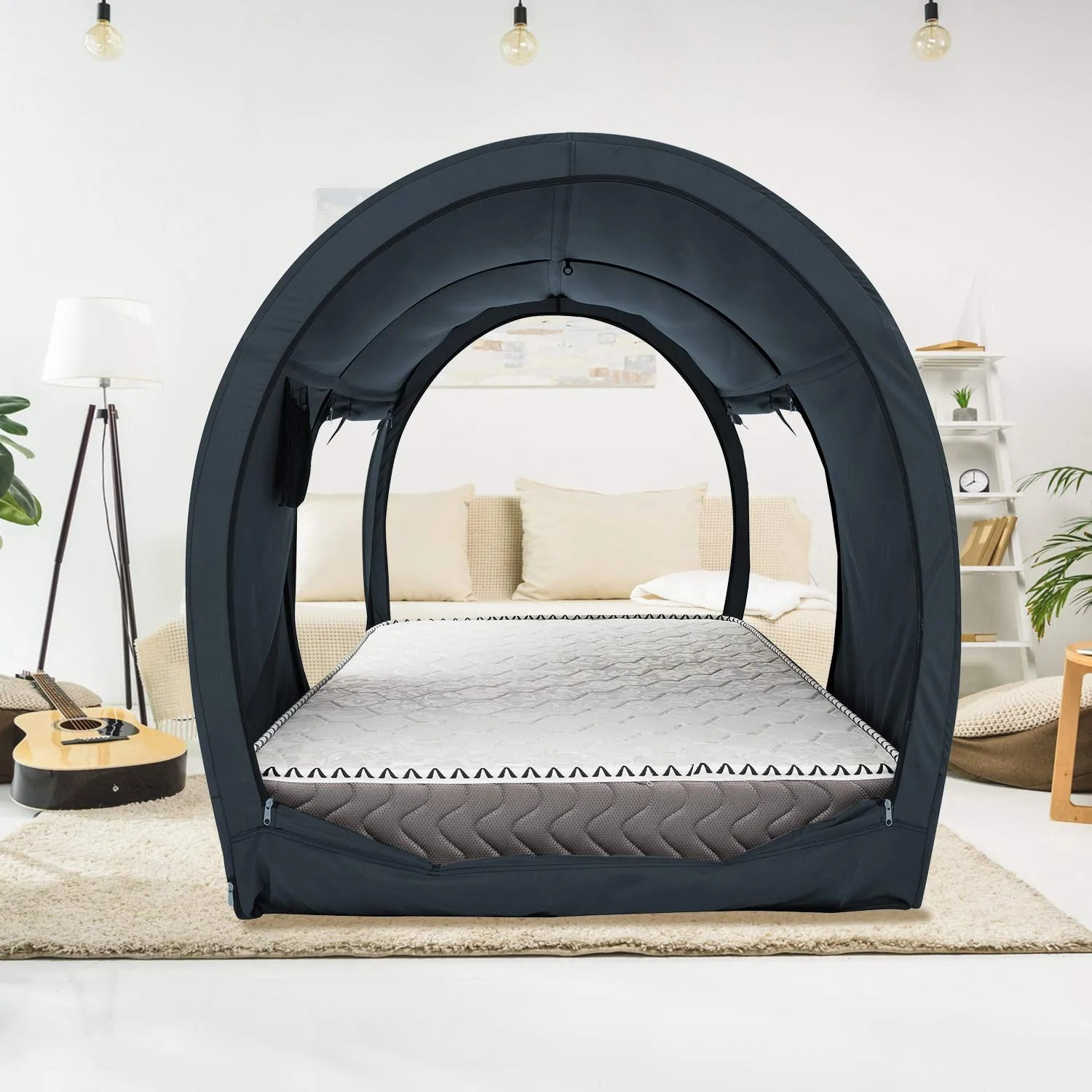 the bed tent lite twin full queen charcoal
