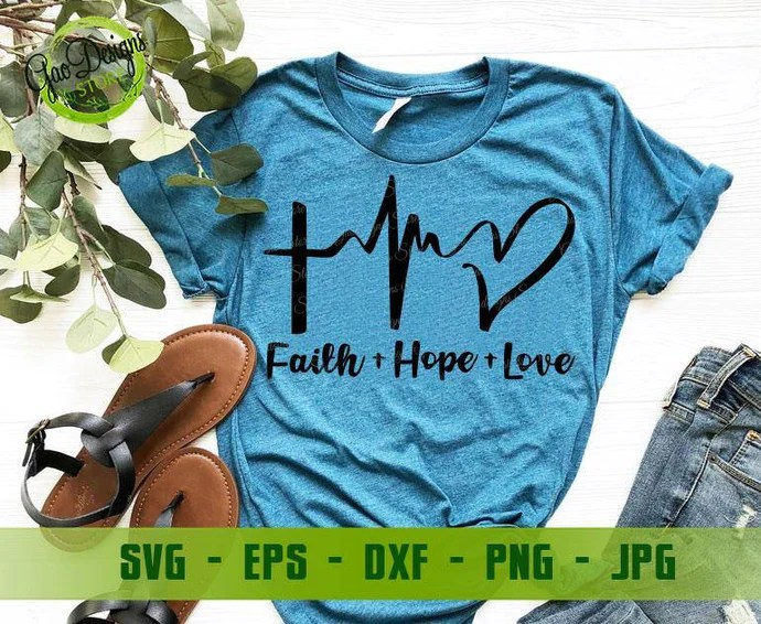 Download Faith Hope Love Heartbeat svg cut files for cricut ...