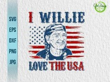 Download Load image into Gallery viewer, I Willie Love The USA Flag ...