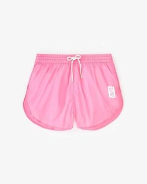 nylon shorts pink