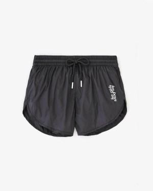 nylon shorts black