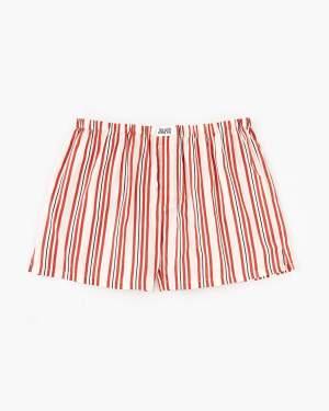pencil stripe woven boxers vanilla