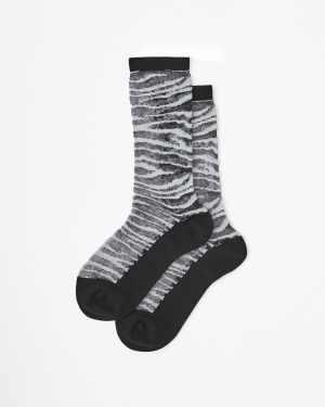 static mesh socks black/white