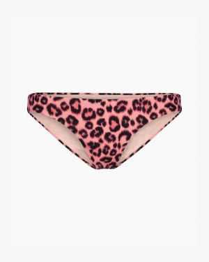 Leopard bikini bottoms pink