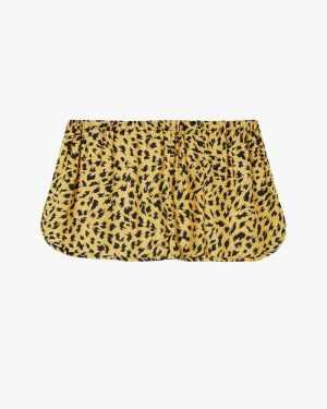 Animal print woven pyjama shorts daffodil