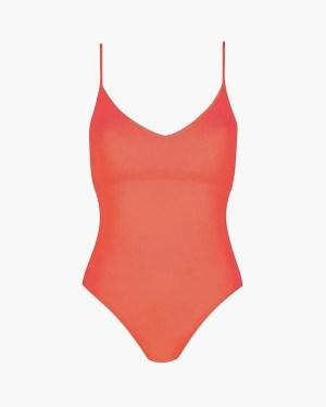 Velvet swimsuit coral