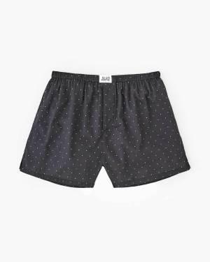 pin dot woven boxers black