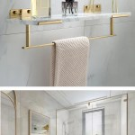 White Marble Bathroom Shelf For Cosmetics Gold Bath Shower Shelving Wa House Boutique