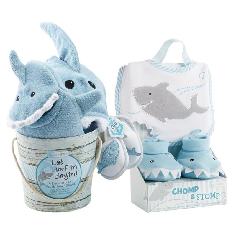 shark baby gift set bundle boy baby aspen