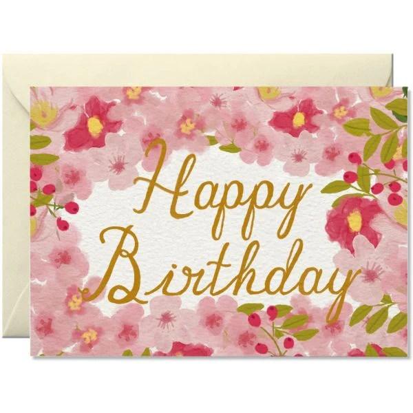 Happy Birthday Flowers Schmidt S Papeterie