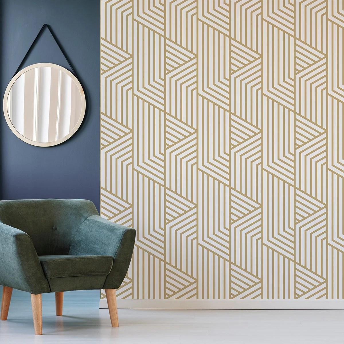 Gold Art Deco Wallpaper Mural Removable Wallpaper Free Uk Shipping Www Wallpapermural Com
