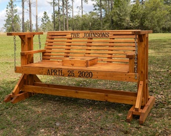 classic porch glider swing with stand memorial bench patio glider swing with cup holder patio furniture wood garden bench free shipping