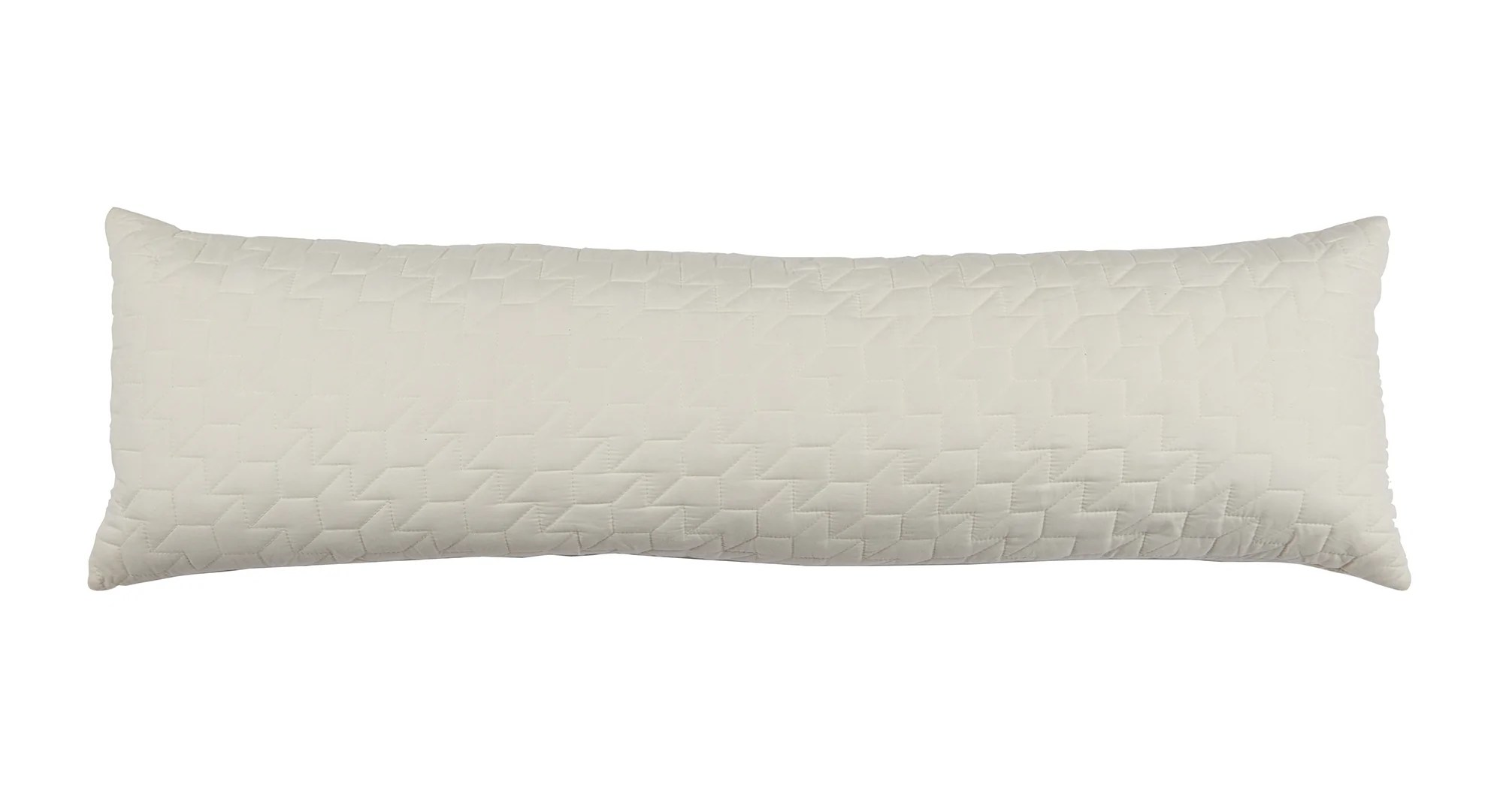 quilted lumbar pillow cream