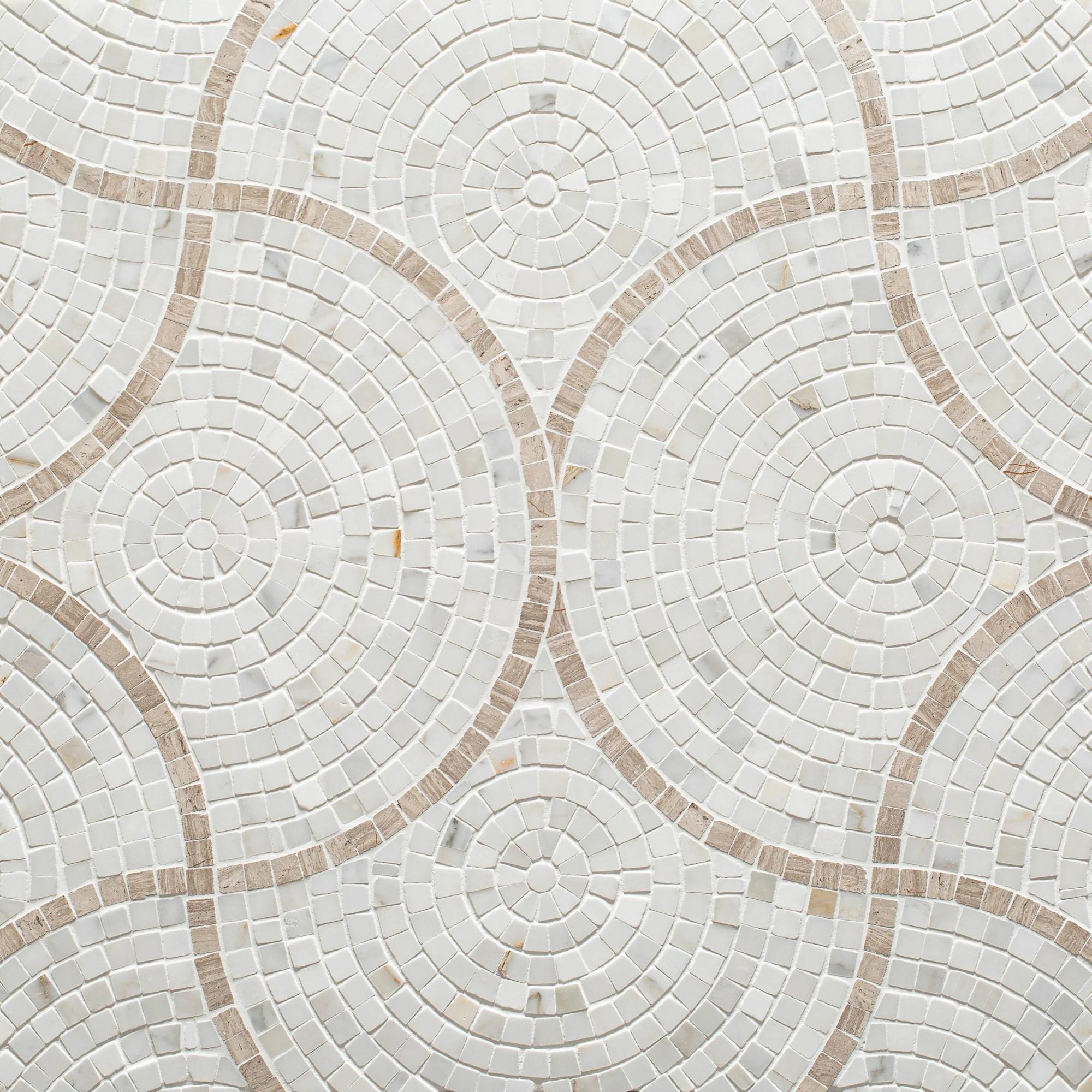 spin mosaic mixed finish stone