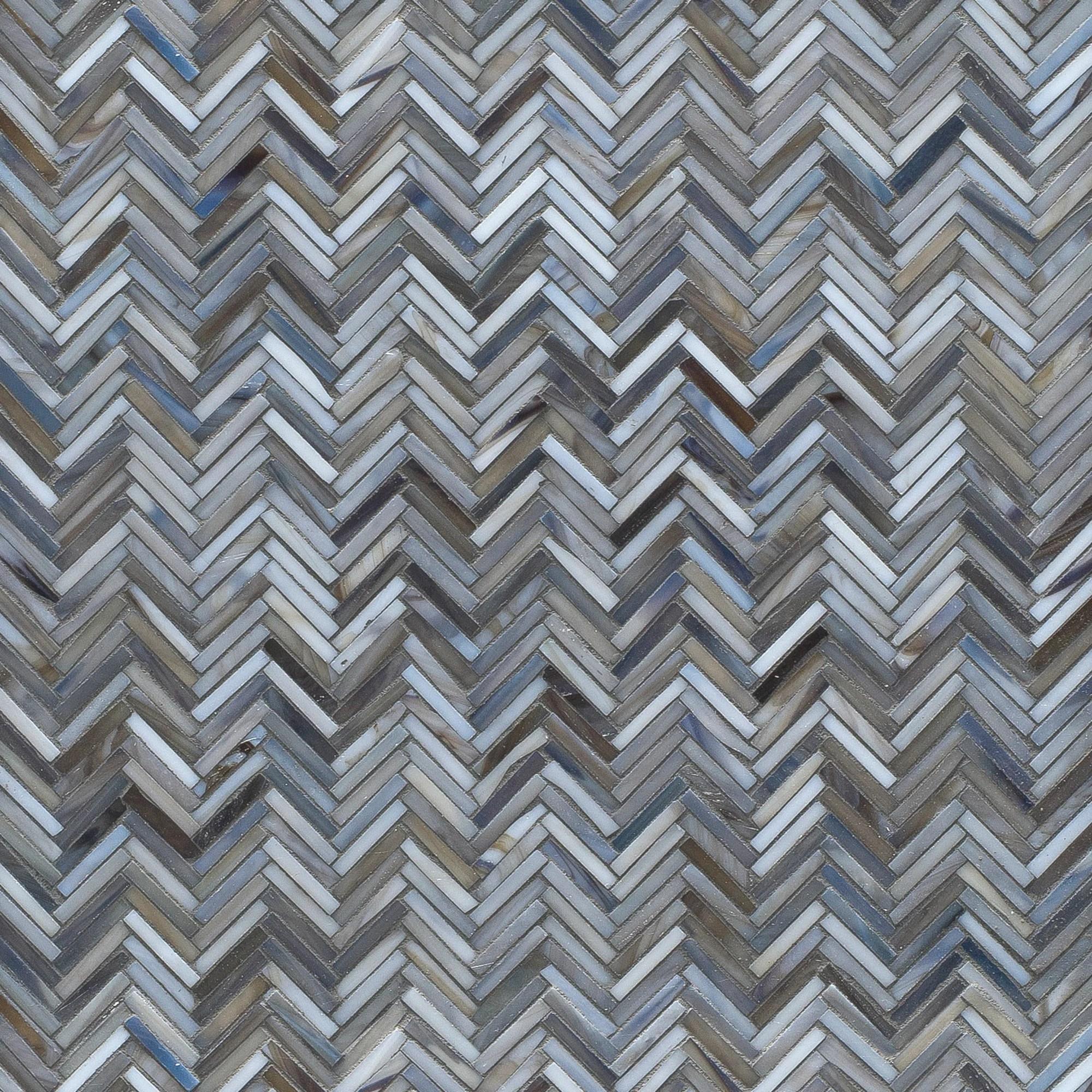 hip herringbone mosaic gloss glass