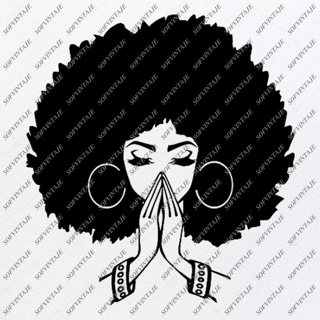 Download African American Girl Silhouette Svg - African Woman ...