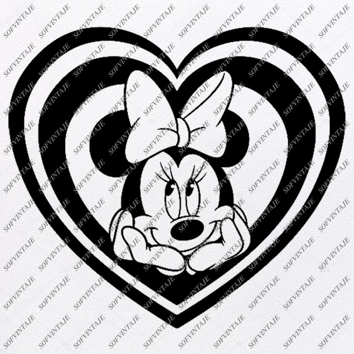 Download Disney Svg File - Minnie Mause Heart Svg - Minnie Mause ...