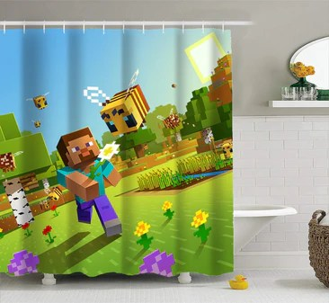 minecraft shower curtains prosgifts