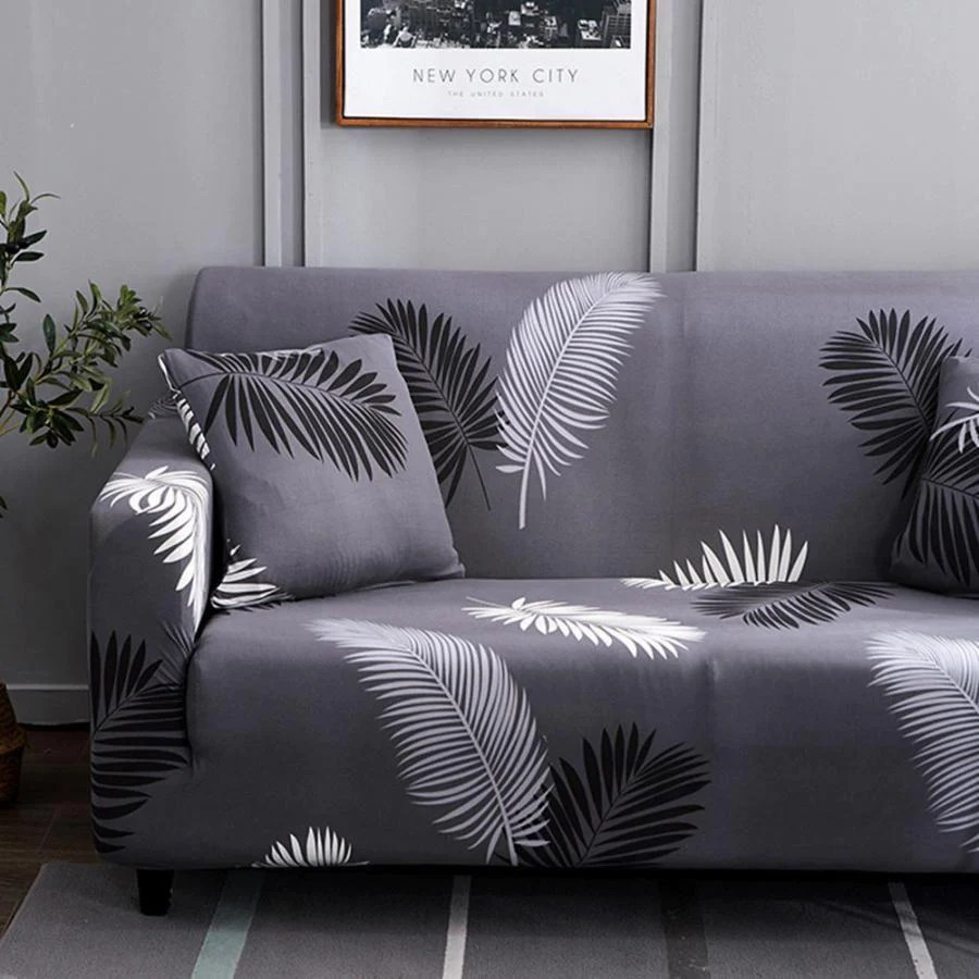 plumes housse extensible canape et fauteuil