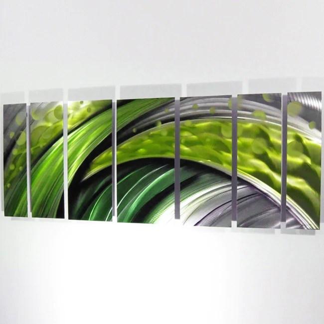 Green Flash Large Modern Abstract Metal Wall Art Sculpture Decor DV8 Studio
