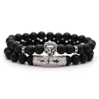 Bracelet en perles lion