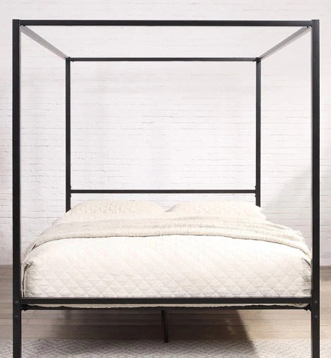 chalfont 4 poster black metal king bed