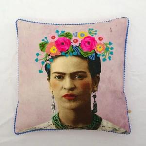 pink frida kahlo cushion