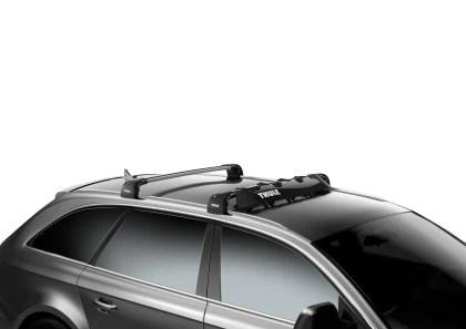 thule airscreen roof rack wind fairing xl 52in black