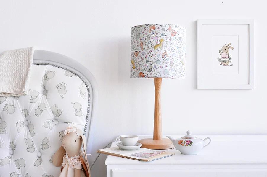 children s enchanted bedroom lampshade