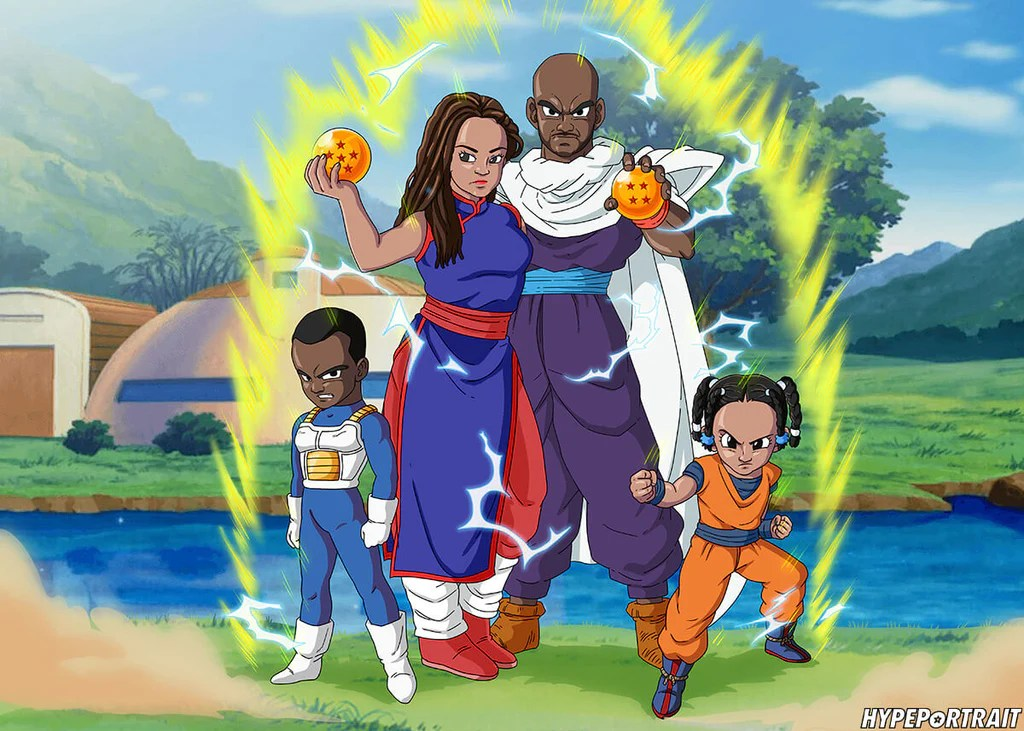 Customized Dragonball Z Family Portrait Hypeportrait