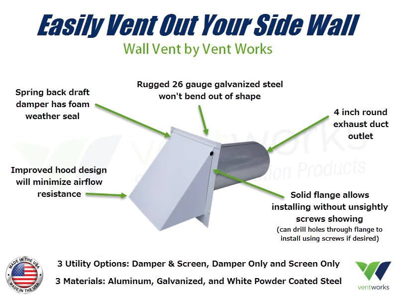 7 inch wall vent