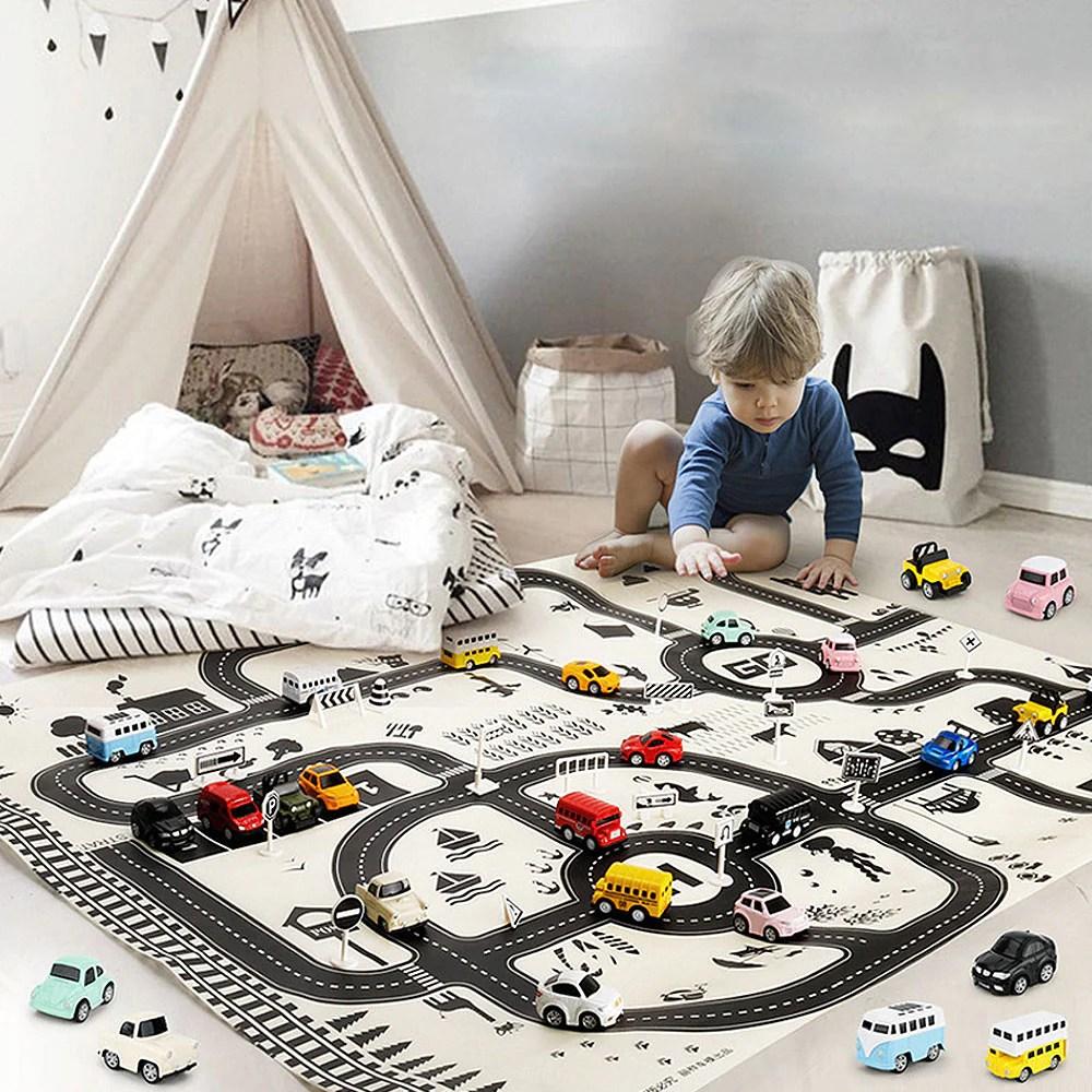 tapis voiture jouet vintage