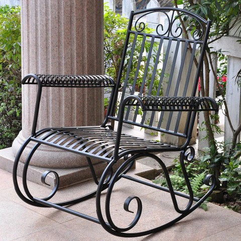 wrought iron patio furniture rocking