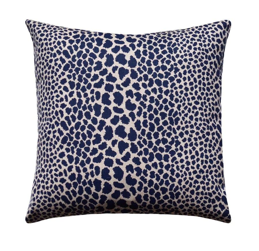 blue animal print pillow online
