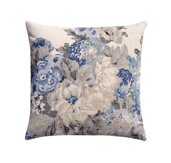 juliet bluebell blue floral pillow
