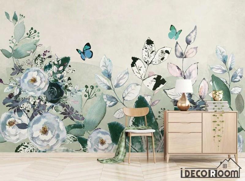 Modern Minimalist Rose Floral Wallpaper Wall Murals Idcwp Hl 000368 Idecoroom
