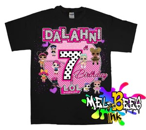 Lol Surprise Personalized Birthday Shirt Name And Age Melbees Print Shop