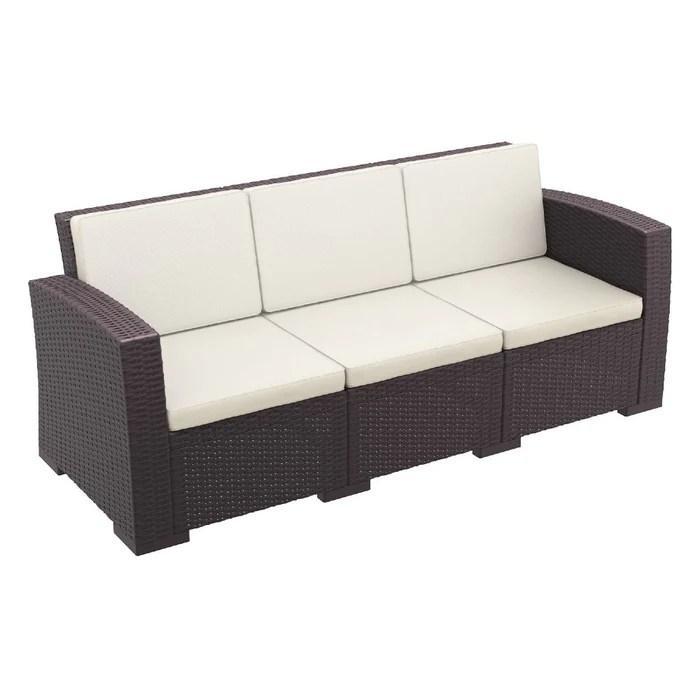 siesta monaco resin outdoor patio seating set 5 person 4 piece with sunbrella natural cushion