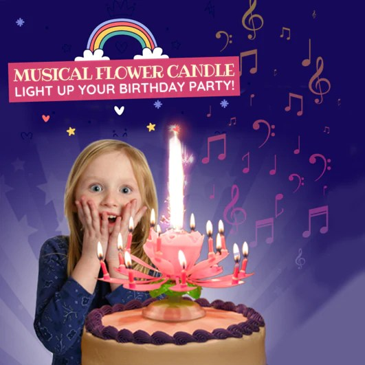Buy 2 Get 1 Free Magic Flower Musical Candle Ioosied