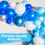 Blue Balloon Garland Kit 120 Pack Silver Confetti Navy Blue Roya Bloonsy Balloon Garlands