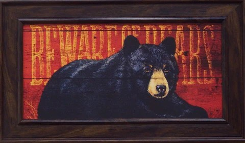Penny Wagner Beware Of Bears Print Framed
